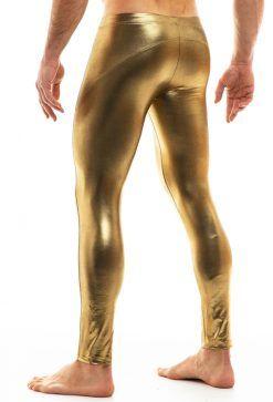 mallas hombre doradas